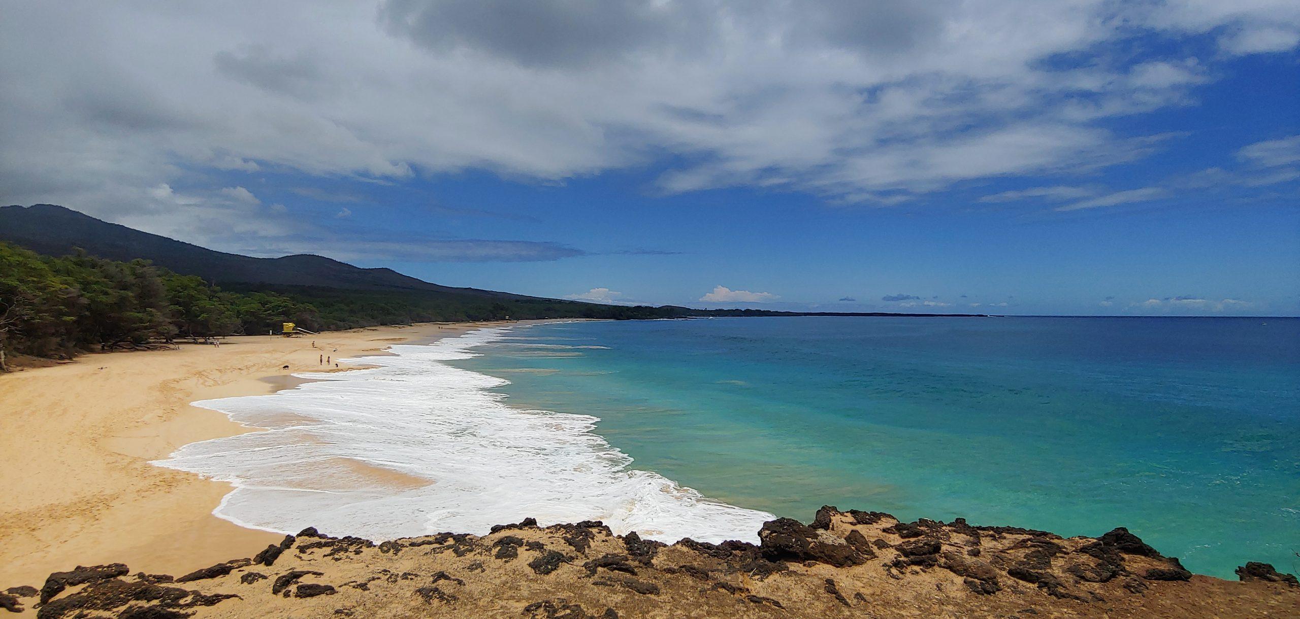 big beach at makena state park maui hawaii